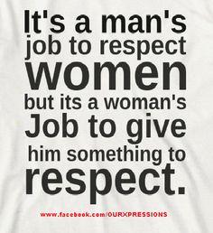 Tugas perempuan untuk membuat dirinya dihargai