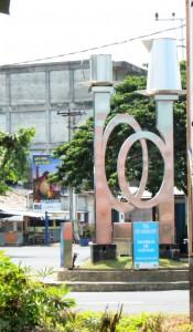 Ikon kota Manggar : teko dan cangkir kopi
