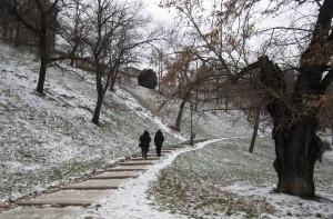 Jalan tangga mendaki menuju Buda Castle