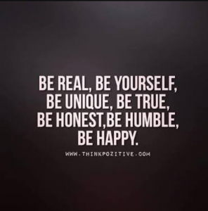 Just Be Genuine of Yourself