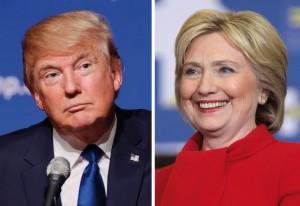 Donald Trump dan Hillary Clinton, sama tuanya.